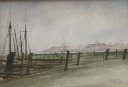 William Minshall Birchall (1884-1941), watercolour, Rye, Sussex, signed and dated '22, 17.5 x 25.