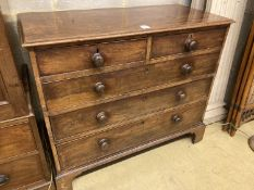 A George III mahogany chest of drawers, width 109cm, depth 51cm, height 94cm