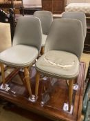 Mid century design. A set of four beech chairs by Stoe Czechoslovakia