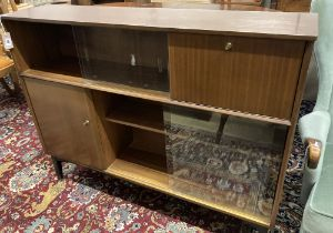 A Nathan teak side cabinet, circa 1970, width 123cm, depth 29cm, height 98cm