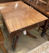 A Regency mahogany Pembroke breakfast table, length 91cm, depth 59cm, height 71cm