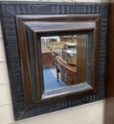 A Dutch style wall mirror, width 49cm, height 53cm