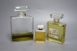 Three Chanel advertising display dummy factices (two lacking labels)