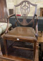 A George III mahogany elbow chair