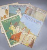 Five French illustrated magazines, Nos Loisirs, Revue de la Femme et du foyer , 1923/1925/1927