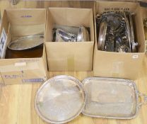 A large quantity of plated wares
