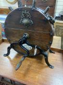 A Victorian Kent's knife sharpening wheel, width 59cm, height 58cm