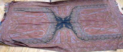 A 19th century Paisley wool shawl, 334 x 160cm
