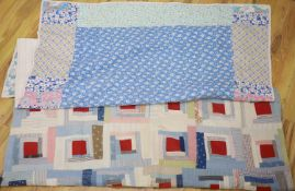 Two 20th century patchwork quilts