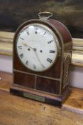 A Regency mahogany bracket clock, by Brockbanks & Atkins, height 39cm with handle down
