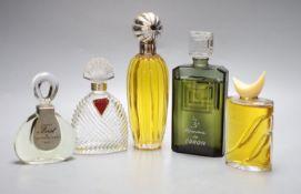 Five advertising display dummy factices; Valentino, un Homme de Caron, Jean-Marc Sinan, Ungaro