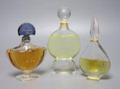 Three Guerlain advertising display dummy factice; Chamade Nahema and Shalimar (foot chipped),