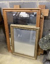 Five assorted wall mirrors, largest width 60cm, height 86cm