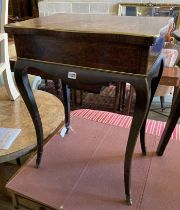 A Louis XV style inlaid poudreuse, width 60cm, depth 41cm, height 74cm