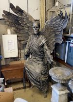 """A composition and fabric theatrical figure """"The Angel of Death"""" formerly modelled for Glyndebourne"""