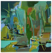 Mark Wright (b.1962) Landfall, 2016 oil and acrylic on canvas 152 x 152 cm