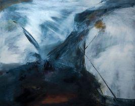 Sally Cole (b.1949) Walking West, 2018 oil on canvas 122 x 152 cm