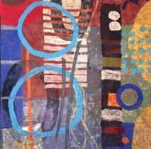 Maggie Scott (b. 1955) Omulolo // 01, 2020 Hand-felted and stitched wall hanging170 x 186 cm
