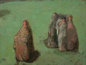Olga Geoghegan (b.1965) Me, My Mother, Sister and Grandmother, 2015 oil on canvas, 100 x 70 cm Olga