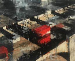 Matthew Radford (b.1953) Red Bus, 2018, Giclee print edition of 35, signed, 75 x 89 cm