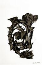 Bryan Kneale MBE, RA (b.1930) Untitled I, 2018 acrylics on canvas 75 x 54 cm