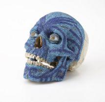 Steven Gregory (b.1952) Wham Bam!, 2008 Human skull, glass beads and goldSince 2002