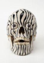 Steven Gregory (b.1952) Midnight Rambler, 2008 Human skull, Russian jet, pearls and diamond