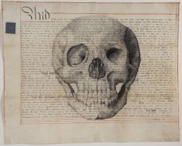 Steven Gregory (b.1952) School of the Said William, 2008, pen and ink on conserved antique vellum