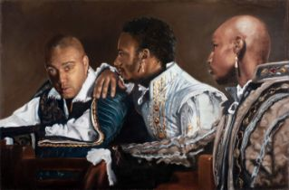 Siobhan Stanley, So Gaz'd On Now, 2014, oil on canvas, 52 x 68 cm