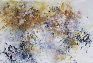 Mark Pulsford (b.1951) Double Moon January, 2018 watercolour media on rag paper110 x 75 cm