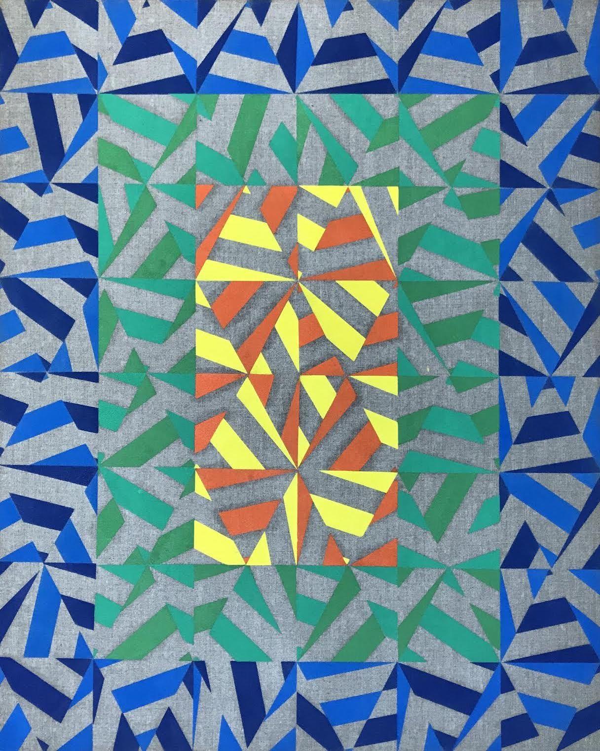 Donald Smith (b.1961) Colour Space, 2019 oil on linen 75 x 65 cm