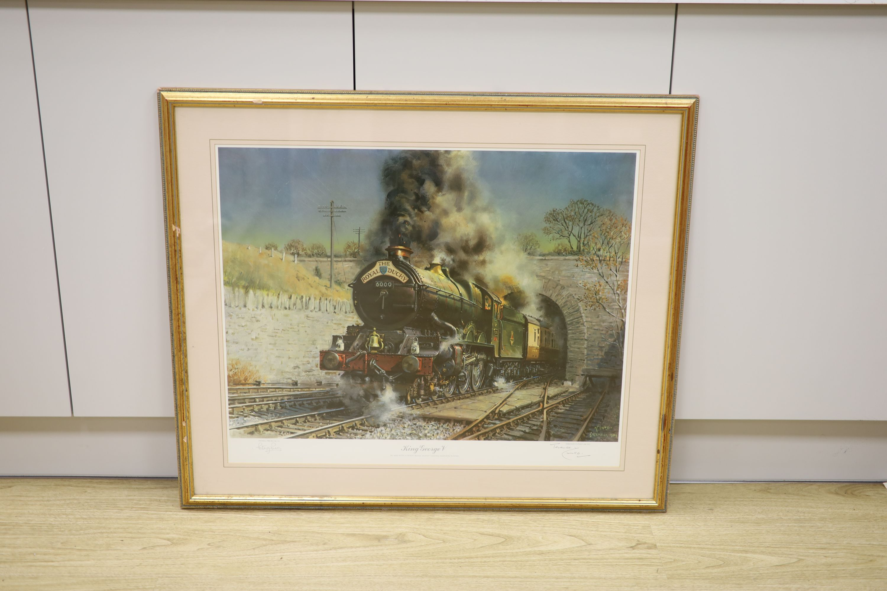 Terence Cuneo, signed print, 'King George V', signed by the artist and Peter Preior, one of 850, - Image 2 of 2
