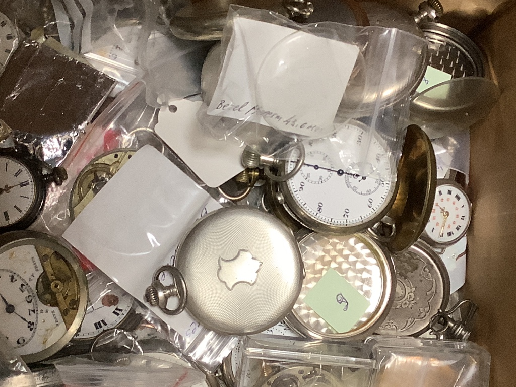 A large quantity of assorted pocket watches, pocket watch movements, parts and accessories. - Image 2 of 3
