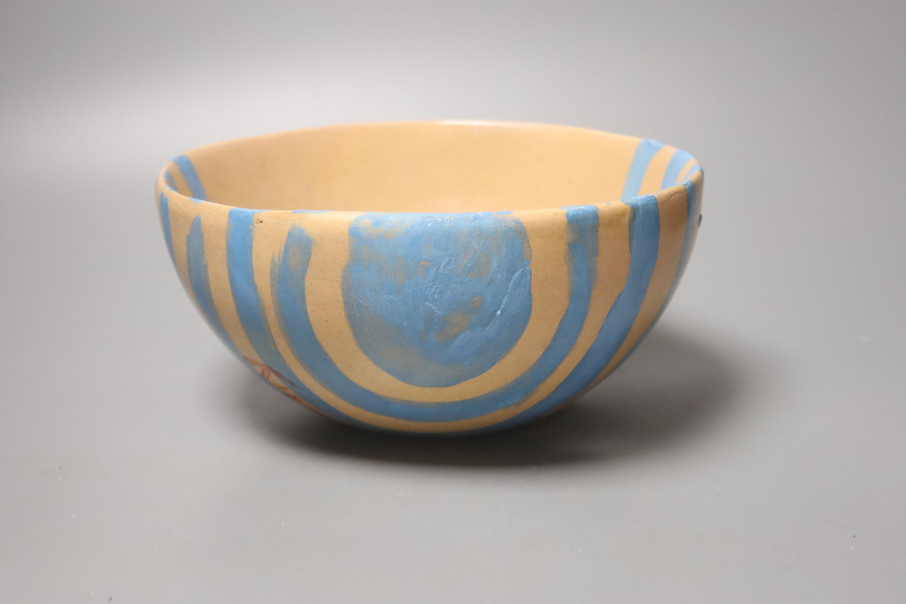 Quentin Bell. A hand painted earthenware bowl, 10cm high