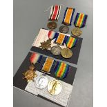 Three groups of WW1 medals;Pair and faithful service special Constabulary to S22077. PTe. Thomas