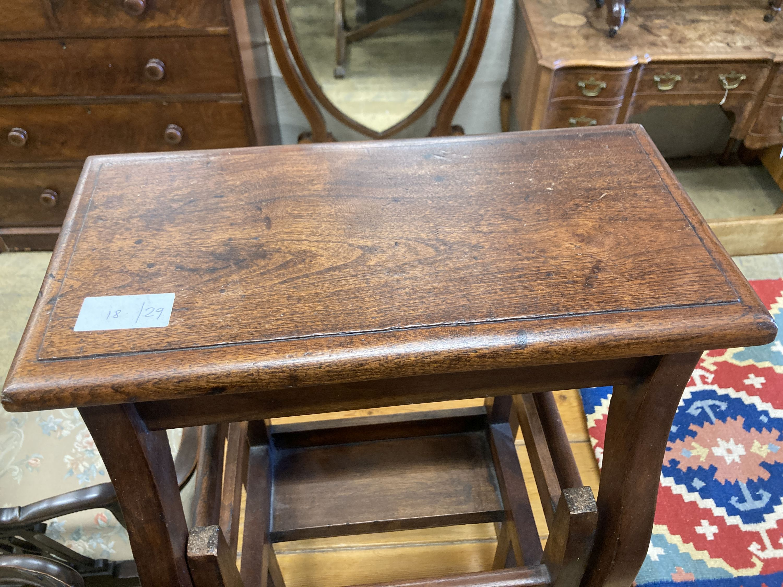 A mahogany metamorphic step/stool, width 42cm, depth 28cm, height 72cm - Image 4 of 4