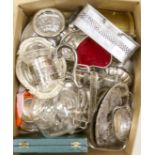 A quantity of silver plated wares