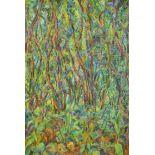Sarah Perritt, oil on board, Undergrowth, 101 x 70cm