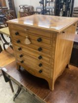Carlos Lopez. A contemporary satinwood games / work chest, width 56cm, depth 45cm, height 63cm
