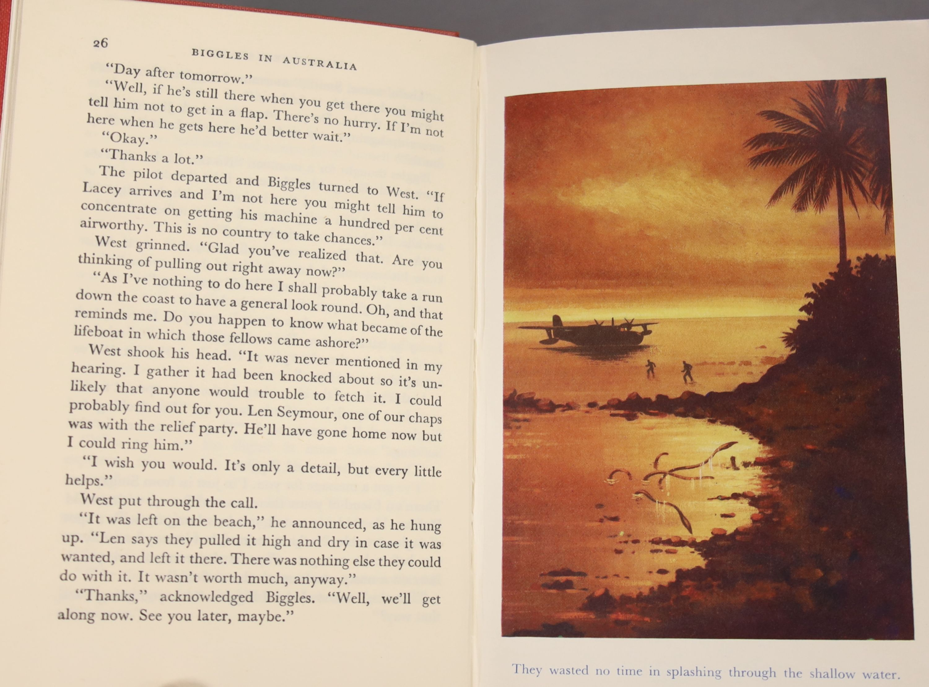 Johns, Capt W.W – Biggles In Australia, first edition, 16mo, hardback, (dj missing, spine sunned) - Image 4 of 10