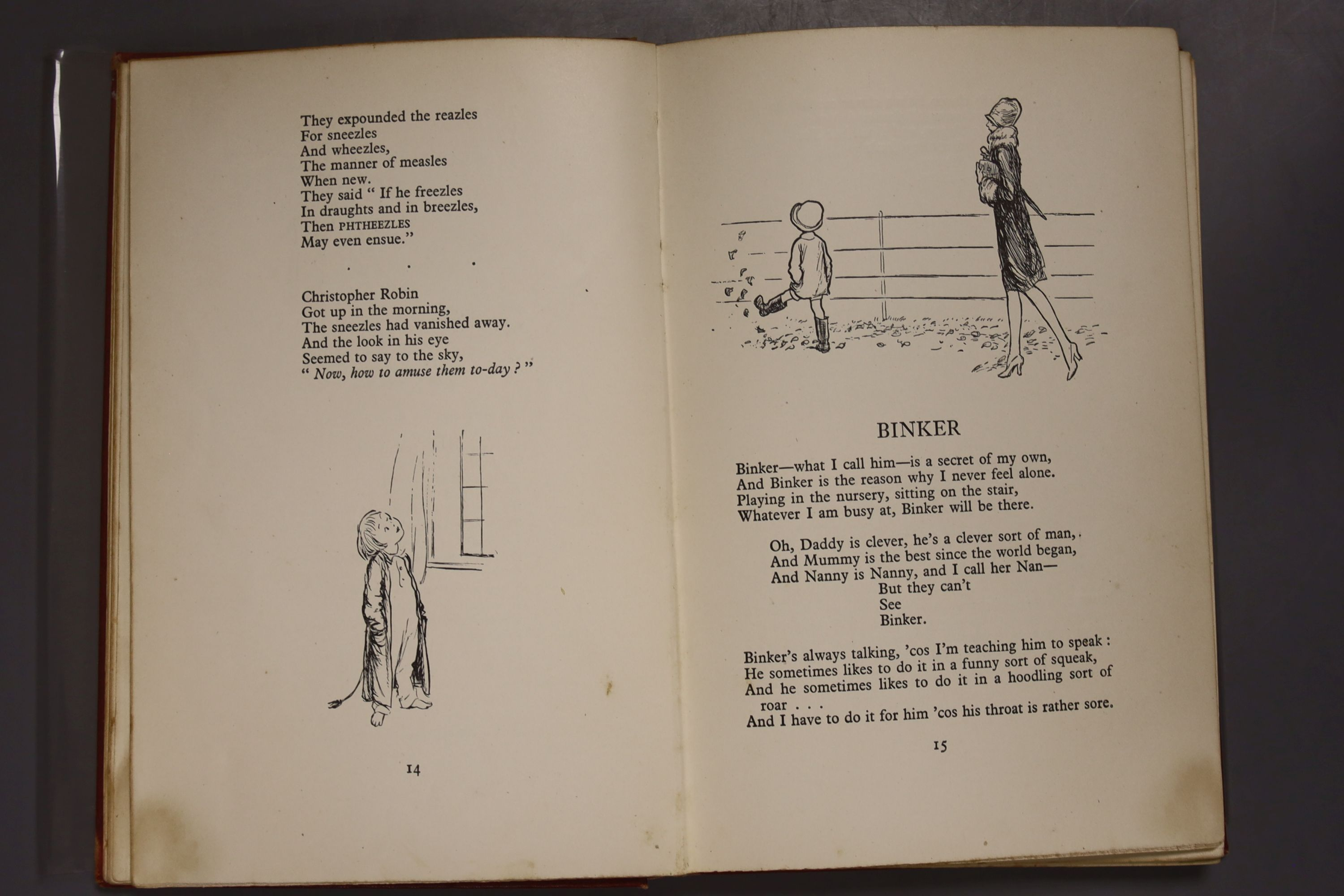 Milne, A.A – Winnie The Pooh, second edition, 8vo, cloth bound, (dj missing, inscribed, scuffs to - Image 10 of 10