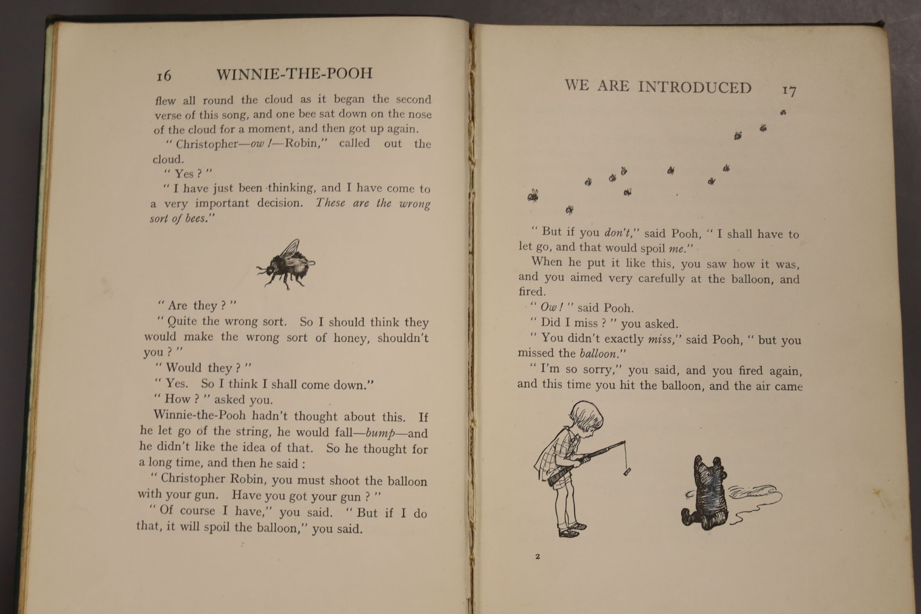 Milne, A.A – Winnie The Pooh, second edition, 8vo, cloth bound, (dj missing, inscribed, scuffs to - Image 6 of 10