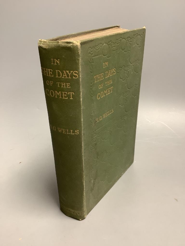 Wells. H.G. – In the Days of the Comet, 1st edition, half title, publisher's (14)pp catalogue at