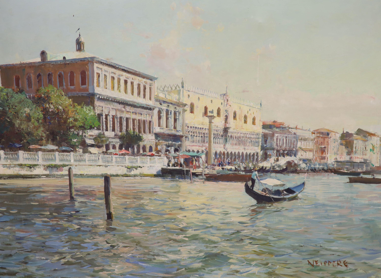 Italian School, oil on canvas, View of Venice, signed, 60 x 80cm