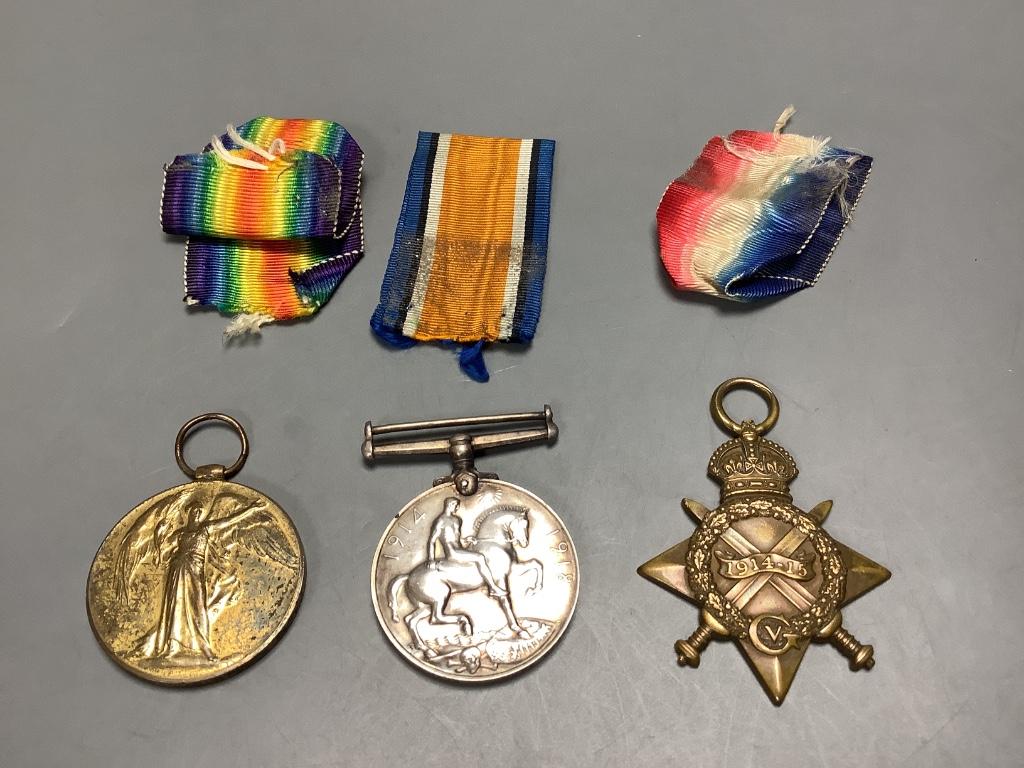 Two WW1 trios to SR3929 Gnr. G.Gration, R.A. & Y-707 Pte. J.Green, Kings Royal Rifle Corps - Image 4 of 4
