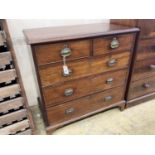 A George III mahogany chest of drawers, width 95cm, depth 53cm, height 97cm