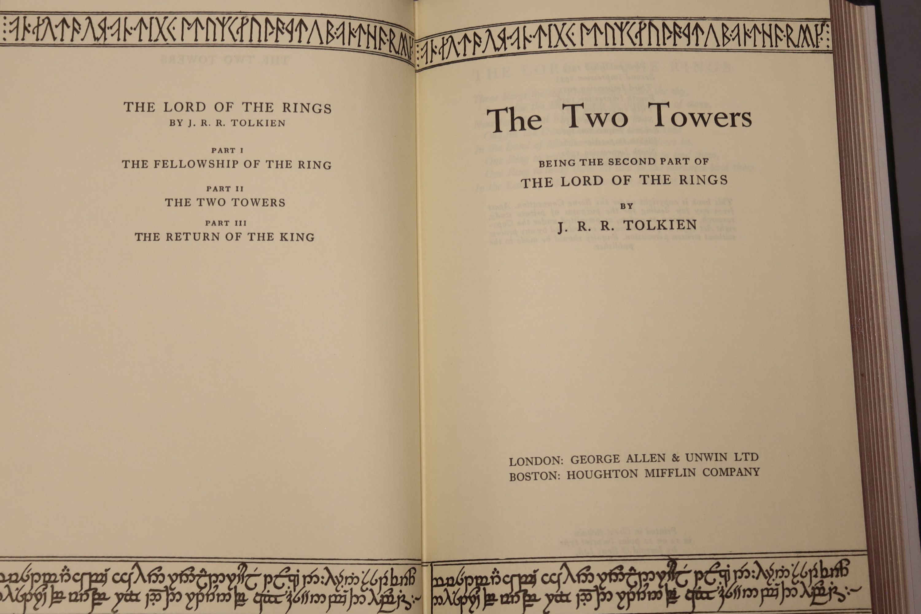 Tolkein, J.R.R. - The Fellowship of the Ring, The Two Towers, The Return of the King 1963, tenth and - Image 6 of 11