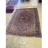 An early 20th century Heriz pale blue ground carpet, 314cm, width 232cm