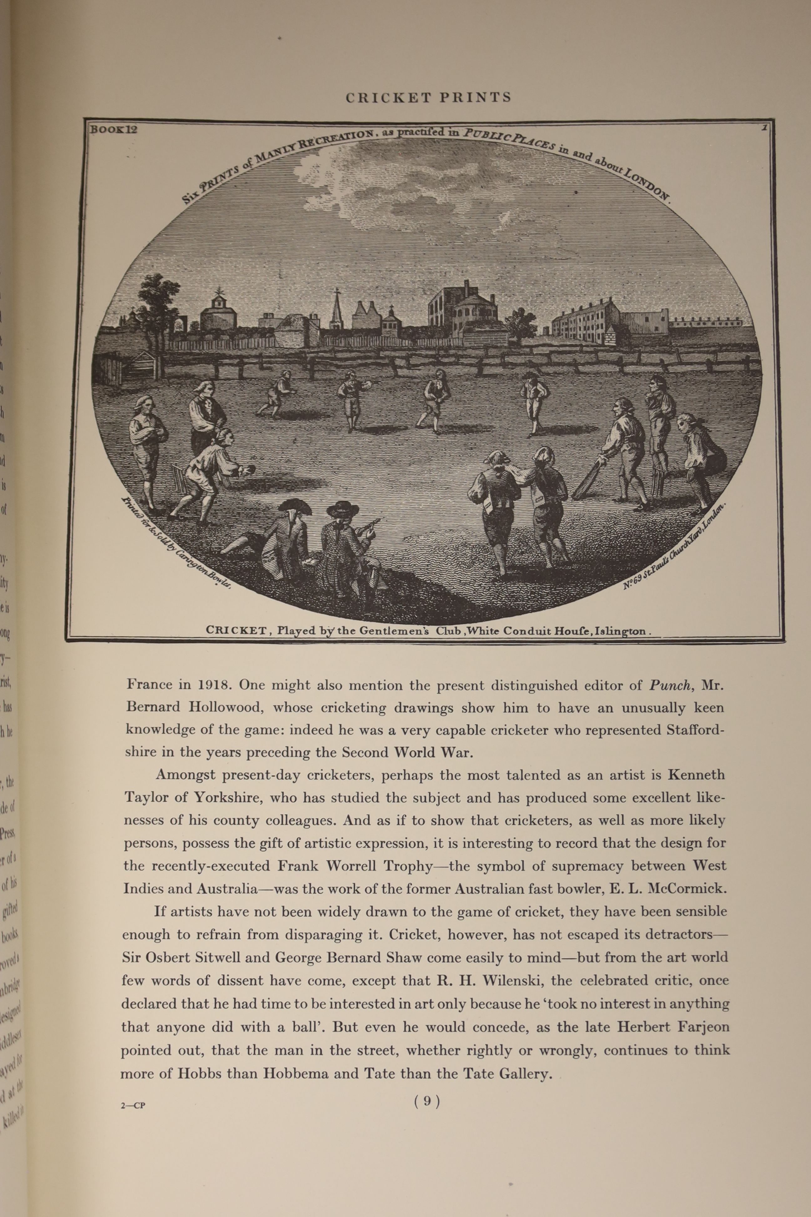 Rosenwater, Irving – A Portfolio of Cricket Prints: a nineteenth century miscellany, 8 coloured - Image 5 of 6