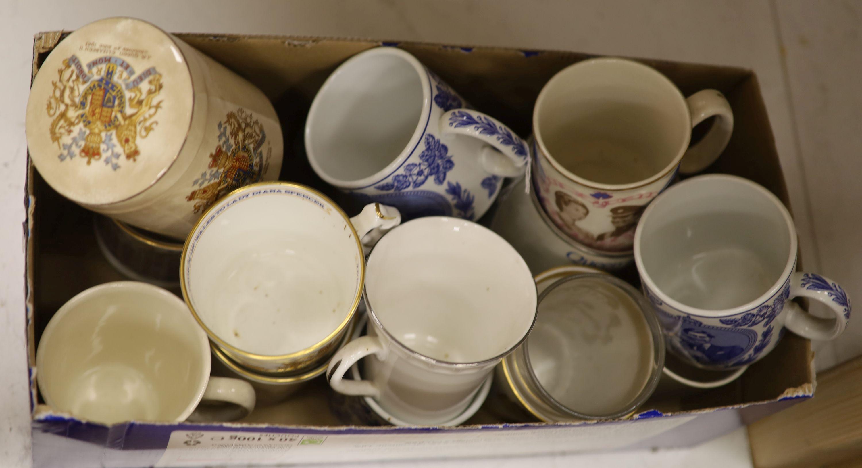 A collection of coronation mugs, Edward VII - Elizabeth II
